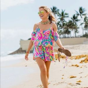 Lilly Pulitzer Romper In Come Out Of Your Shell